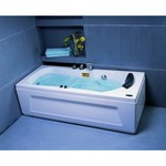 APPOLLO Прямоугольная акриловая ванна с гидромассажем, 170x75 см