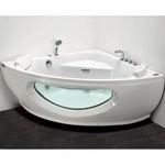 APPOLLO Угловая акриловая ванна с гидро и аэромассажем, 150х150