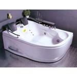 APPOLLO Угловая акриловая ванна с гидро- и аэромассажем, левая, 180x125 см