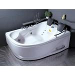 APPOLLO Угловая акриловая ванна с гидро- и аэромассажем, правая, 180x125 см